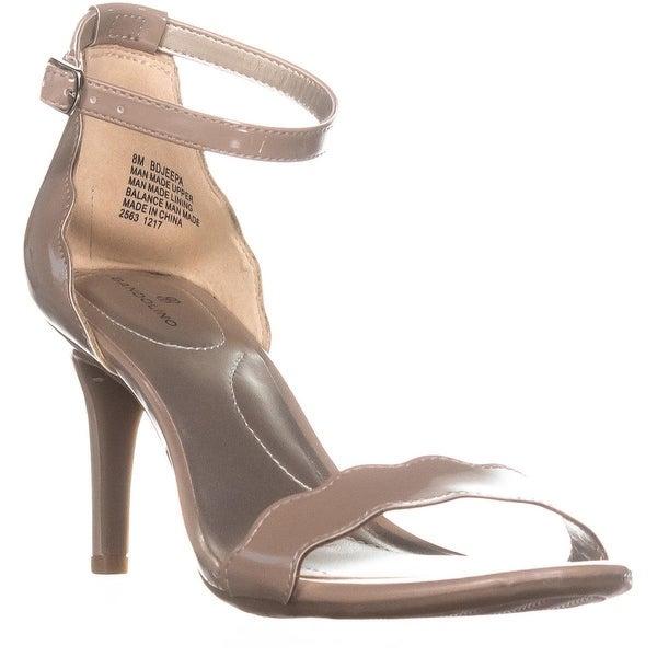 Bandolino Jeepa Ankle Strap Stiletto Sandals, Light Natural