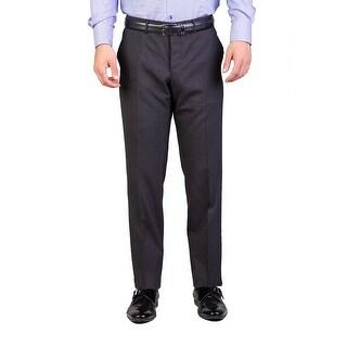 Prada Men's Virgin Wool Trouser Pants Charcoal Grey