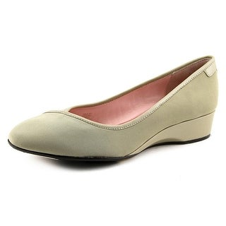 Taryn Rose Felicity Women Round Toe Canvas Nude Flats