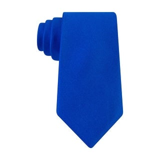 Nautica Mens Oxford Sea Solid Classic Silk Neck Tie Blue - One Size Fits most