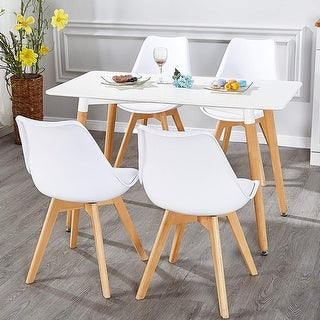 VECELO Home Kitchen Dining Chairs  Soft Cushion Seat Modern Style (Set of 4) - N/A