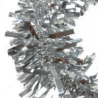Set of 3 Festive Shiny Silver Christmas Tinsel Garland - Unlit - 50'