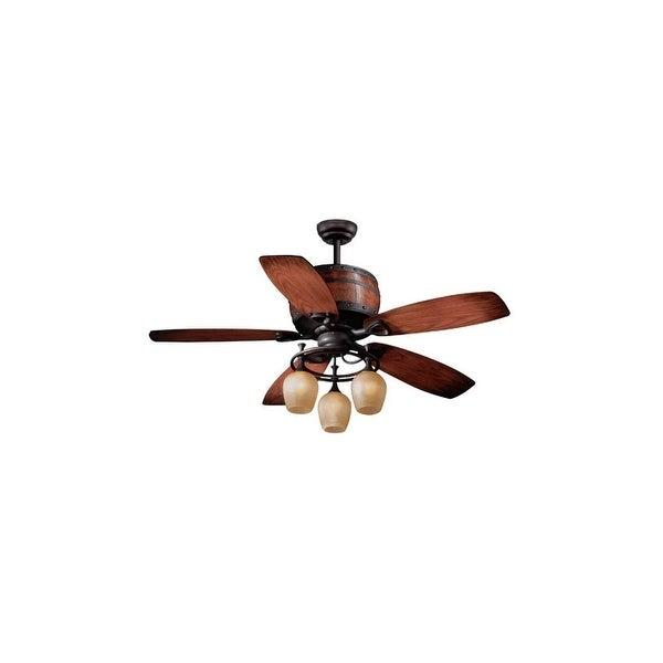 "Vaxcel Lighting FN52455 Cabernet 52"" 5 Blade Indoor Ceiling Fan - Light Kit and Fan Blades Included - Oil Brushed Bronze"