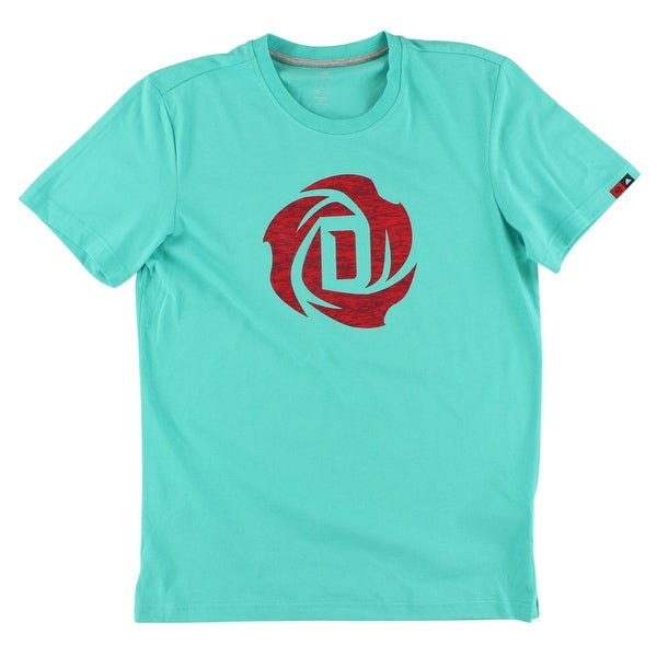 6ad8b75c Shop Adidas Mens Rose Logo T Shirt Turquoise - Turquoise/Red - xL - Free  Shipping On Orders Over $45 - Overstock - 22613518