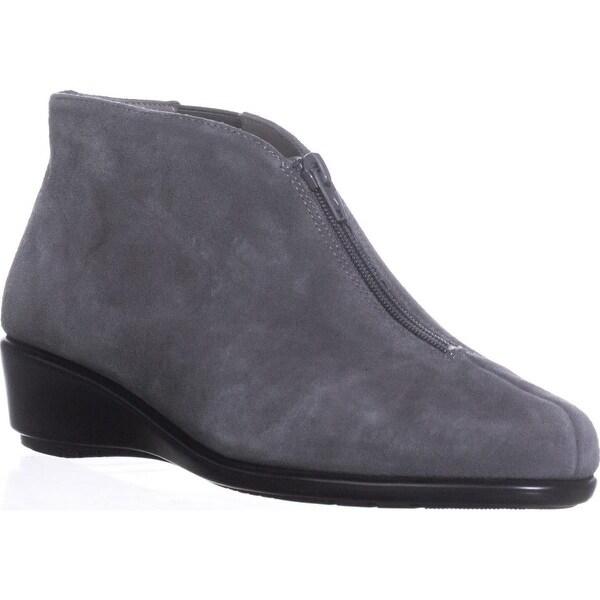 Aerosoles Allowance Wedge Ankle Boots, Dark Gray Suede - 8 w us
