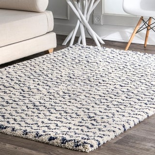 Link to Porch & Den Macondray Plush Chevron Shag Rug Similar Items in Bedroom Furniture