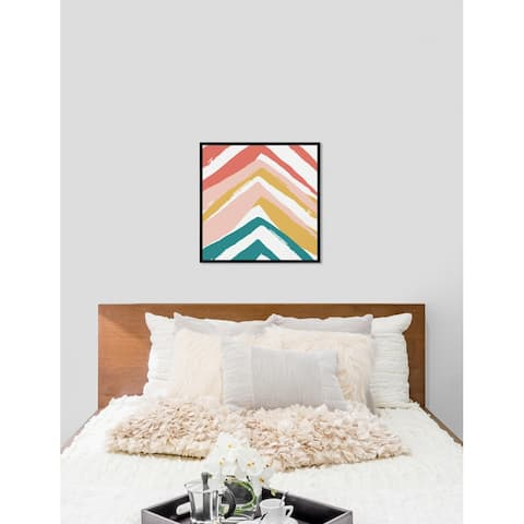 Oliver Gal 'Mid Century Pyramids' Abstract Framed Wall Art Print