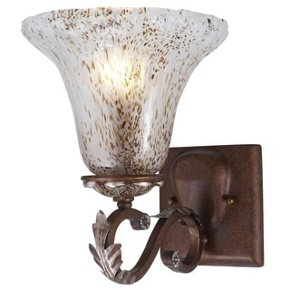 Landmark Lighting 371-G Single Light Up Lighting Wall Sconce from the Panthera Collection