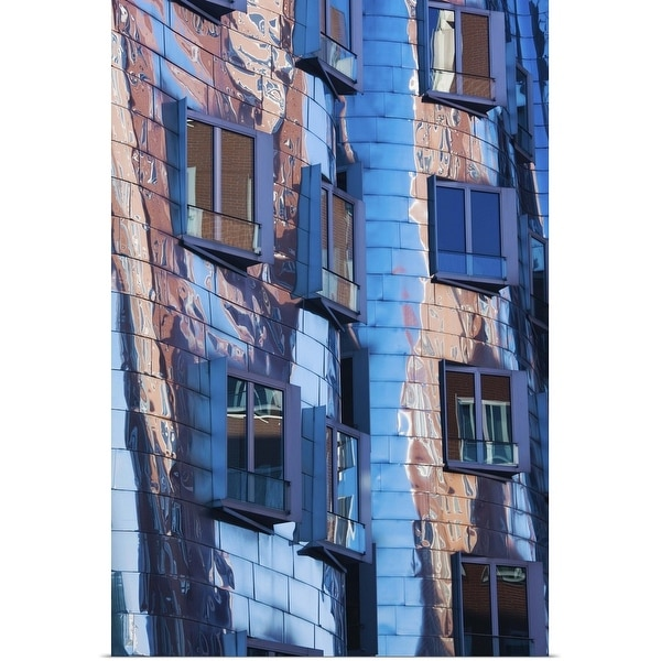 """""""Low angle view of a building, Neuer Zollhof, Medienhafen, Dusseldorf, Germany"""" Poster Print"""