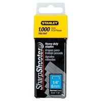 "Stanley TRA204T Light Duty Narrow Crown Staples, 1/4"", 1000/Pack"