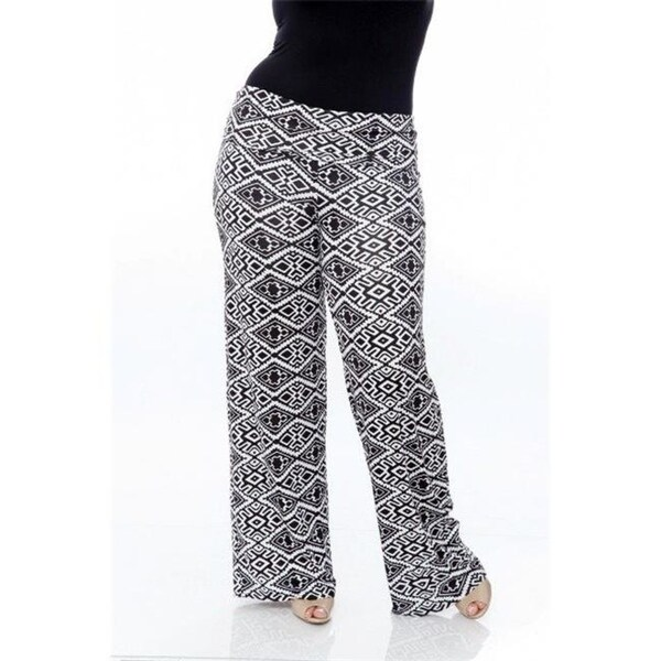 78503fa08a1 Shop White Mark Ps550-110-3Xl Plus Size Printed Palazzo Pants 110-Black  White Aztec - 3Xl - Free Shipping On Orders Over  45 - Overstock - 26963191