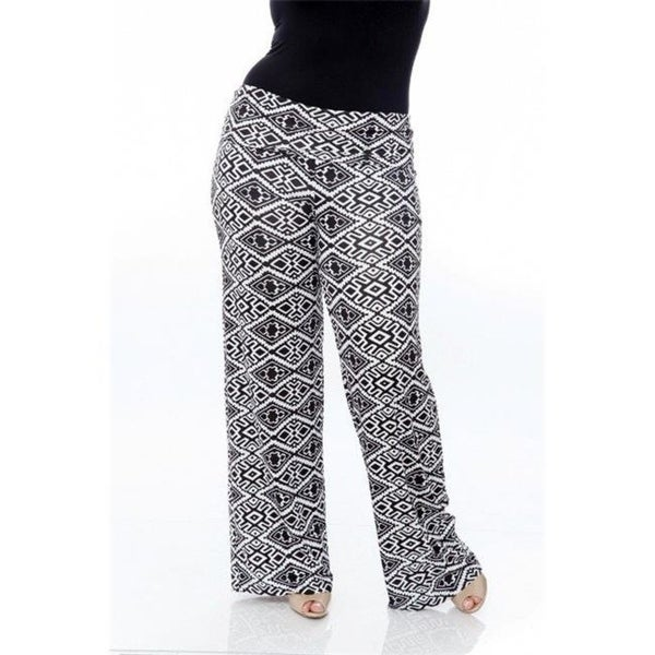 4bbfaa4f4dbb Shop White Mark Ps550-110-3Xl Plus Size Printed Palazzo Pants 110-Black  White Aztec - 3Xl - Free Shipping On Orders Over $45 - Overstock - 26963191