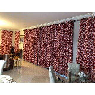 The Curated Nomad Vicksburg Thermal Woven Blackout Grommet Top Curtain Panel Pair