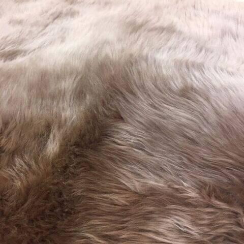 Dynasty Natural 10-pelt Luxury Long Wool Sheepskin Shag Rug