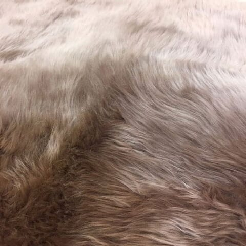 Dynasty Natural 8-Pelt Luxury Long Wool Sheepskin Shag Rug - 5'5 x 6'8""