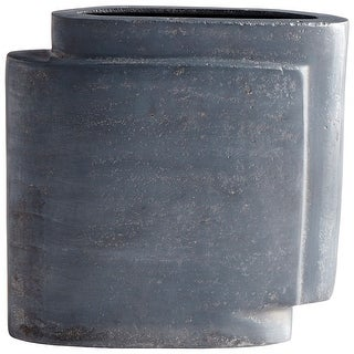 "Cyan Design 08957  A Step Up 8-3/4"" Wide Aluminum Vase - Zinc"