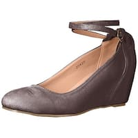 Journee Collection Womens tibby Closed Toe Ankle Strap D-orsay Pumps