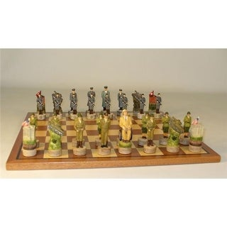 WWII Germany Men On Sapele Maple Board Themed Chess Set