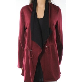 Cable & Gauge NEW Red Black Womens Size Large L Open Front Jacket