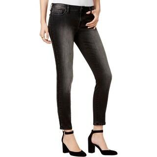 Tommy Hilfiger Womens Skinny Jeans Embellished Black Wash