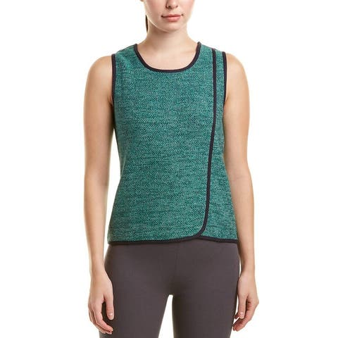 Nic + Zoe Womens Bright Jade Green Size Large L Speckled Tank Top