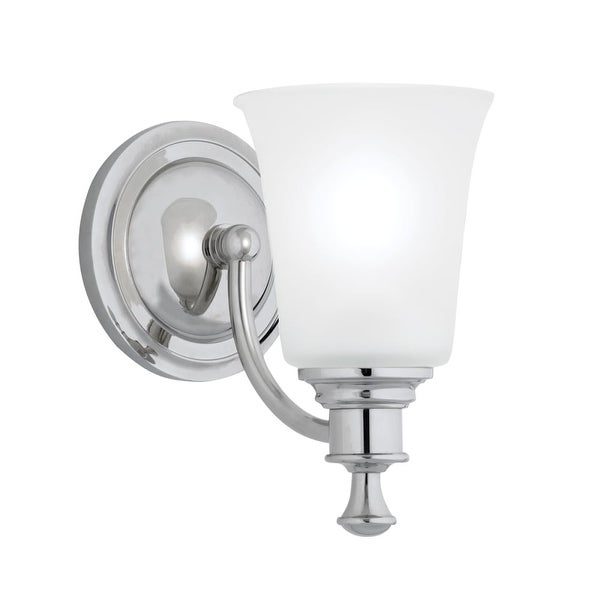 """Norwell Lighting 9721 Sienna 9"""" Tall 1-Light Bathroom Sconce with White Glass Shade"""