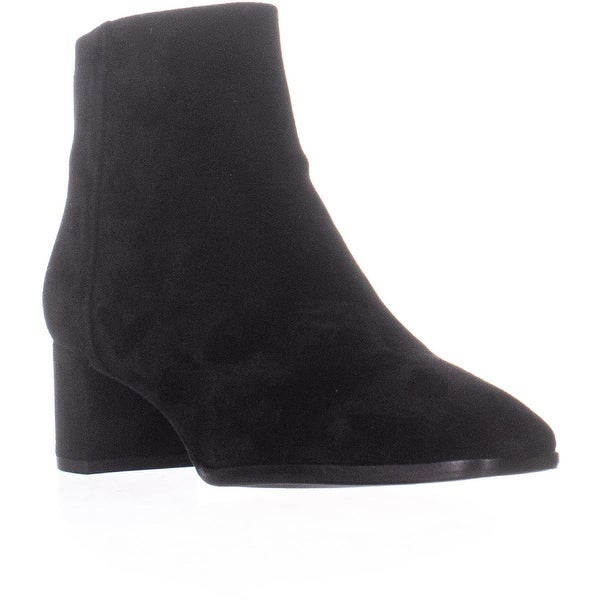 fbcc5a16a47f Via Spiga Vail Block Heel Square Toe Akle Boots, Black Suede - 7 US /