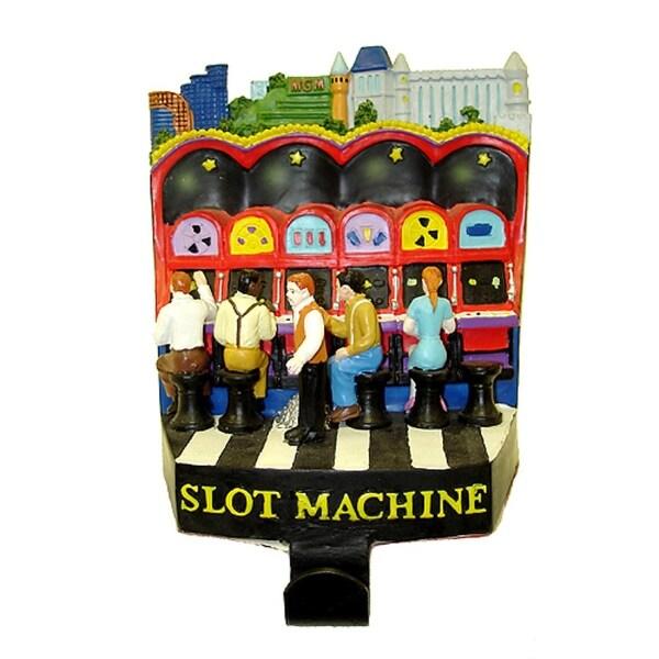 """5.75"""" Casino Gambling Slot Machine Christmas Stocking Holder"""
