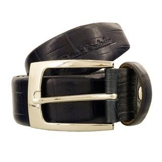 Renato Balestra W226 BLU SCURO Dark Blue Leather Mens Belt-36in