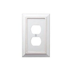 Amerelle 4040DDW Savannah Wood 1 Duplex Wall Plate, White