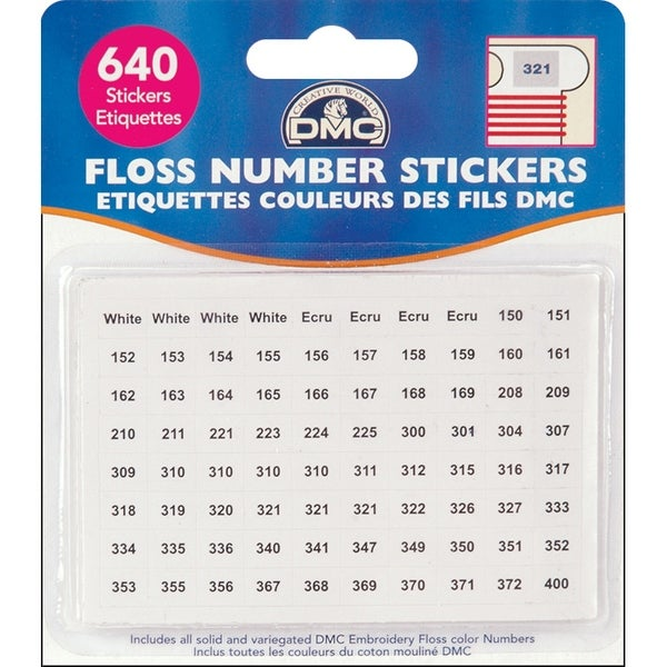 Floss Number Stickers-640/Pkg