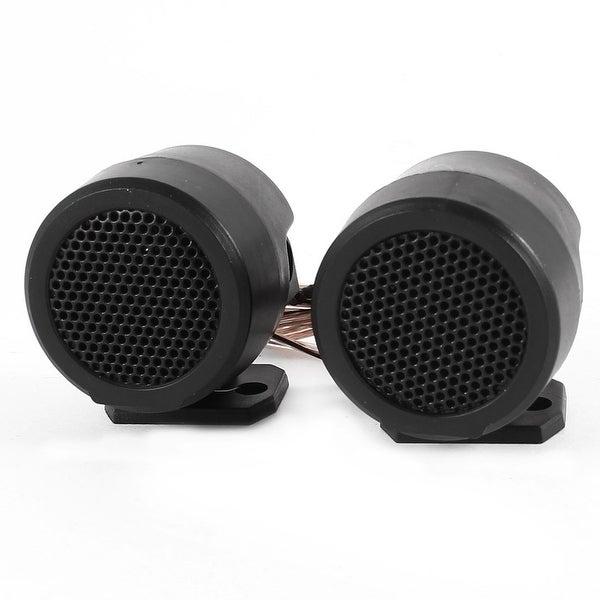 "2 Pcs 500W Flush Mount 1.6"" Dia Dome Tweeters Speakers Black for Car"