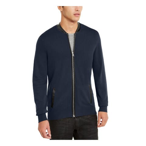 INC Mens Blue Zip Up Jacket XXL