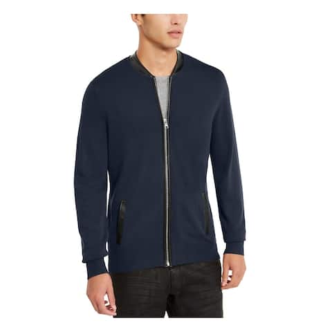 INC Mens Blue Zip Up Jacket XS
