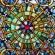 """Thumbnail 5, Stained Glass Webbed Heart 22"""" Window Panel. Changes active main hero."""