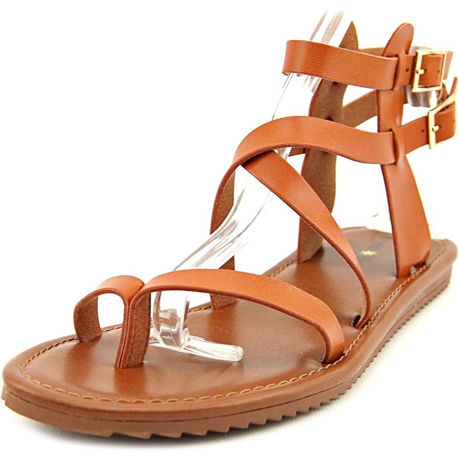 Seven Dials Womens Brown Ankle Strap Sandals Size 8