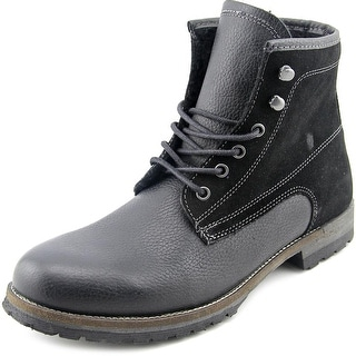 Steve Madden Upsell Men Round Toe Leather Boot