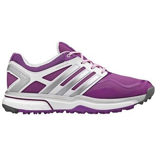 Adidas Women's Adipower Sport Boost Dark Pink/Metallic Silver/White Golf Shoes Q47020