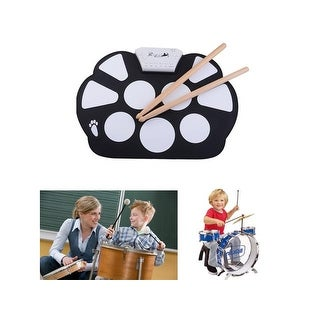 Portable Kids Roll up Electronic Digital Drum Kit with Drum Foot Pedal