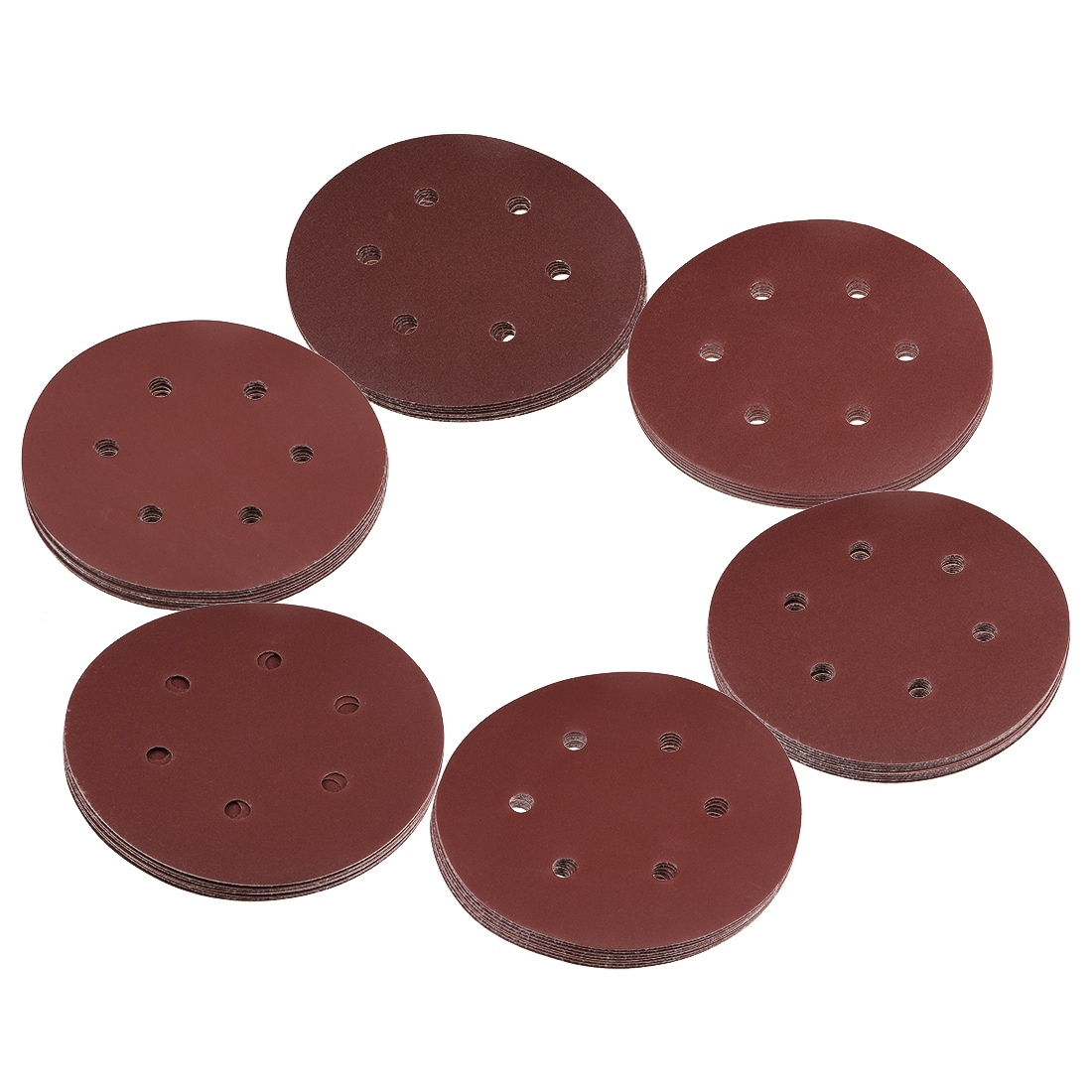 Bosch 6 Pack of Assorted Grits 6 Inch 6 Hole Sanding Discs # SR6R000
