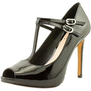 Vince Camuto Carlii Women Peep-Toe Patent Leather Black Heels
