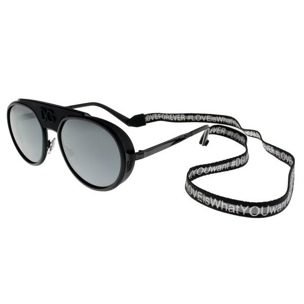 5faaa79e79fe7 Dolce  amp  Gabbana DG2210 01 6G BLACK MATTE BLACK Phantos Sunglasses - 55