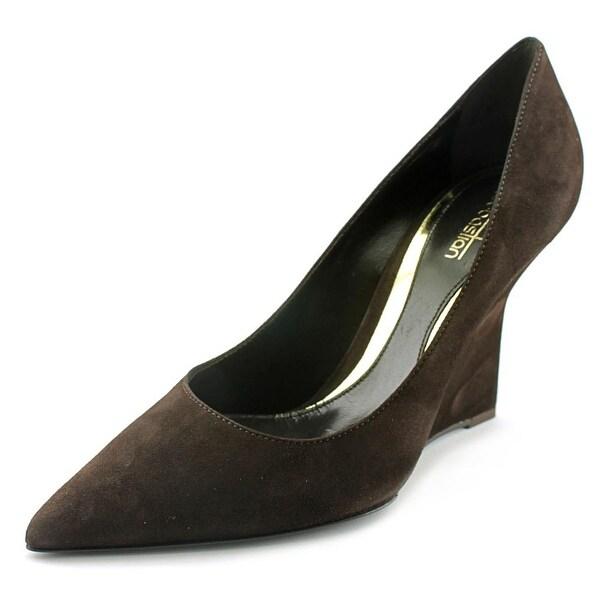 Sebastian Milano S6386E Women Open Toe Suede Brown Wedge Heel