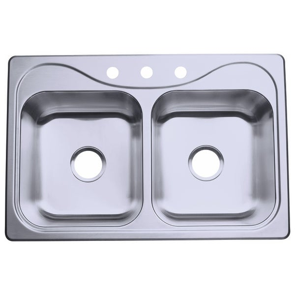 Sterling 11400 3 Southhaven 33in Double Basin Drop In Stainless Steel Kitchen Sink With Silentshield Free Shipping Today