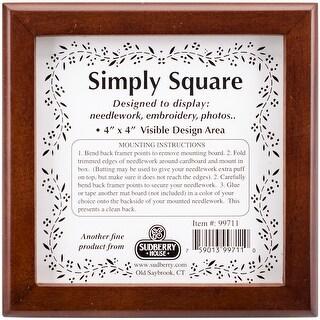 """Mahogany Simply Square Box 5""""X5""""X2.75""""-Design Area 4""""X4"""""""