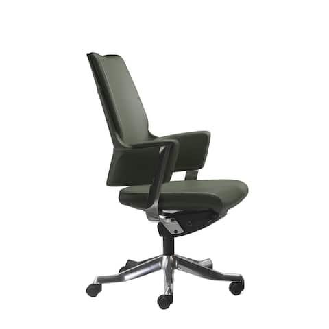 Rye Studio Height-Adjustable Modern Leather Office Chair