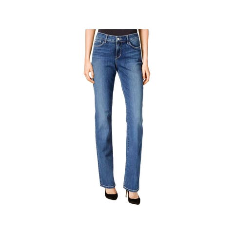 NYDJ Womens Marilyn Straight Leg Jeans Denim Mid-Rise