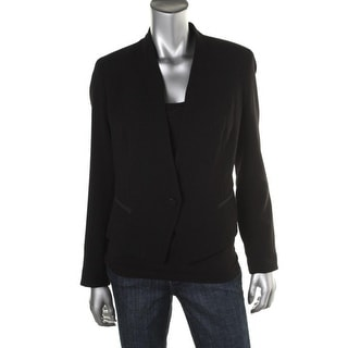 Rachel Roy Womens Textured Long Sleeves One-Button Blazer - 6