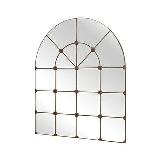 """Elk Home 105501  Gilded Arch 49"""" by 40"""" Arched Flat Metal Wall Mounted Accent Mirror - Antique Metal"""