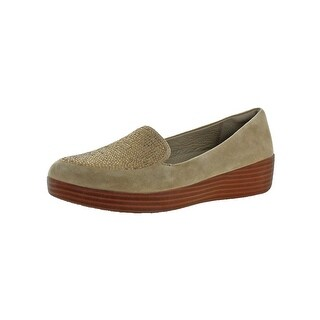 Fitflop Womens Sparkly Sneakerloafer Fashion Loafers Suede Slip-On
